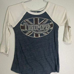 Lucky Brand Triumph British Flag Thermal Top Women
